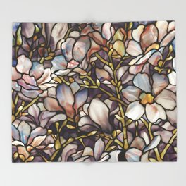 Louis Comfort Tiffany - Decorative stained glass 10. Throw Blanket