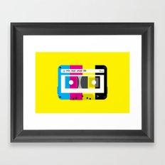 CMYK Mix tape called life Framed Art Print