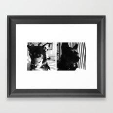 Charlie + Lucie Framed Art Print
