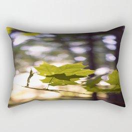 Leaf Bokeh Rectangular Pillow