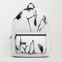 zebra ink splatter Backpack