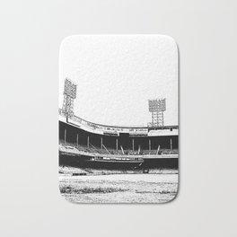 Black and White Detroit Tiger Stadium Demolition Print Bath Mat