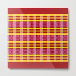 Ethno Buginese Sabbe Pattern 05 Metal Print