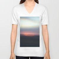 utah V-neck T-shirts featuring Utah Skies by Sophie Pellegrini