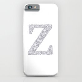 Floral Letter Z iPhone Case