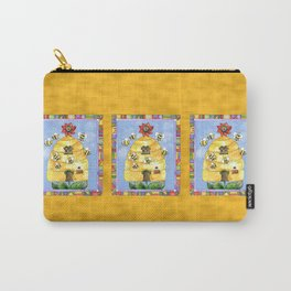 Busy Bees with Border Carry-All Pouch