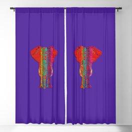 Rainbow Ganesha (Purple Background) Blackout Curtain