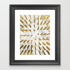 Marble and Gold Pattern #4 Framed Art Print