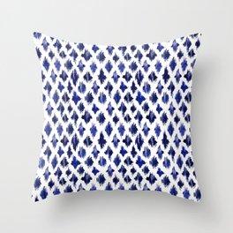 Shaking ultramarine Throw Pillow