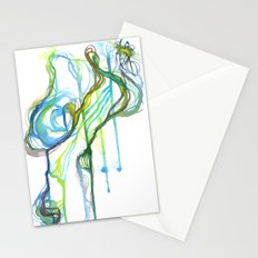 Aqua Trickle Stationery Cards