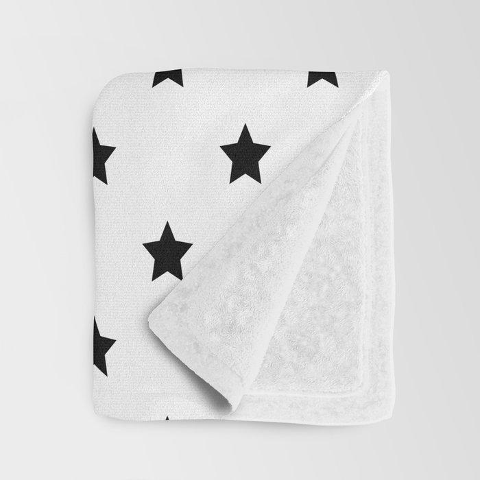 Black and white Star Pattern Decke