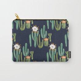 Dark Cactus Desert Carry-All Pouch