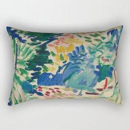 Landscape at Collioure - Henri Matisse - Exhibition Poster Rectangular Pillow