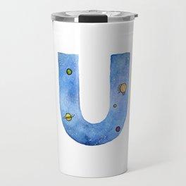 Galaxy Alphabet Series: U Travel Mug
