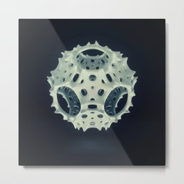 Icosahedron Bloom Metal Print