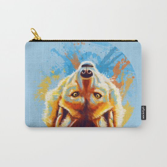 Hey! - Wolf portrait Carry-All Pouch