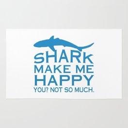 Sharks Make Me Happy Rug