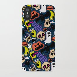 Spooky Pattern iPhone Case