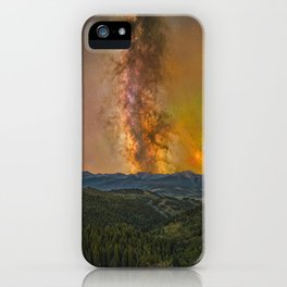 Milky way over the gore range iPhone Case