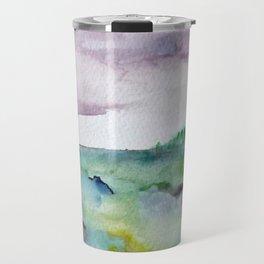 """337"" abstract watercolor landscape Travel Mug"