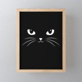 Cute Black Cat Framed Mini Art Print