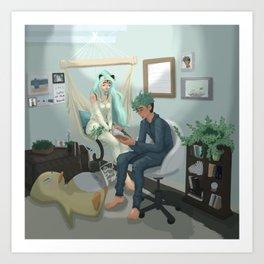 Tala & Tristan Art Print