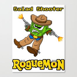 Salad Shooter Canvas Print