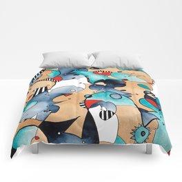 Abstrat High Tea Contrast Comforters