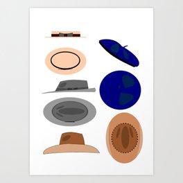 Hats classics Art Print