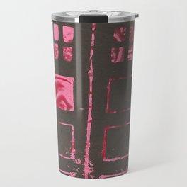 pink tardis Travel Mug