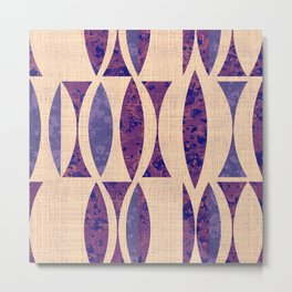 Seventies violet Pattern Metal Print