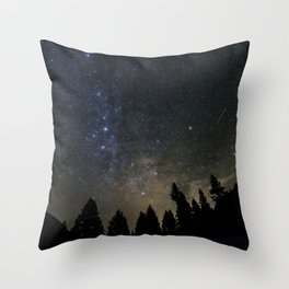 Orionids over Big Sky Throw Pillow