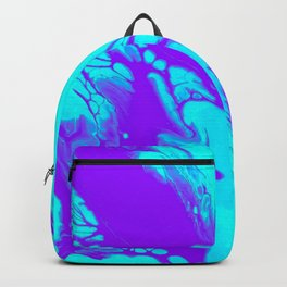 Melted Neon Acrylic Artwork Backpack