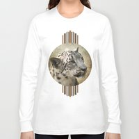 snow leopard Long Sleeve T-shirts featuring Snow Leopard by Jai Johnson