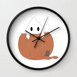 Peekaboo Ghost Wall Clock