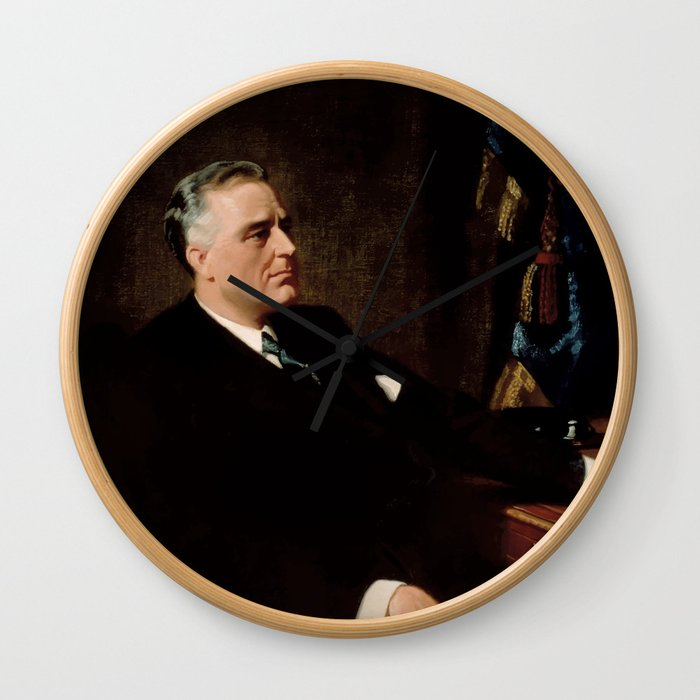 FDR Official Portrait Wall Clock
