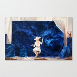 B L U E Canvas Print