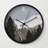 yosemite Wall Clocks featuring Yosemite by Amanda Bates