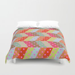 retro pattern and rocket 2 Duvet Cover