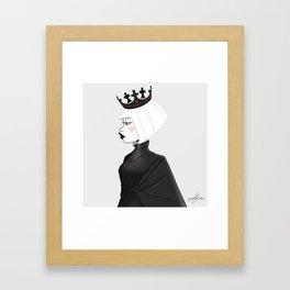 The white queen Framed Art Print