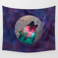 howl Wall Tapestries featuring Howl by vivajcious