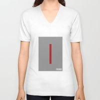 fringe V-neck T-shirts featuring Fringe - Minimalist by Marisa Passos