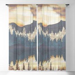Fall Sunset Sheer Curtain