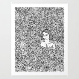 In the Leaves Original Illustration Art Print