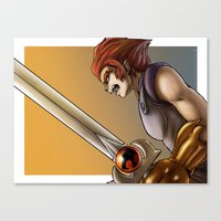 thundercats Canvas Prints featuring Leon-O by Sabina  Daldovo