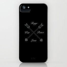 Rage & love -  Peace & war by GreenDay iPhone Case