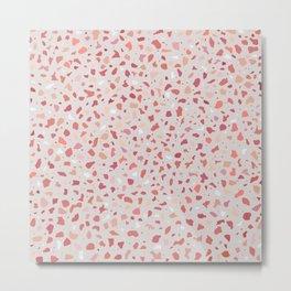 AFE Coral Terrazzo Pattern Metal Print