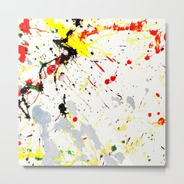 Paint Splatter Metal Print