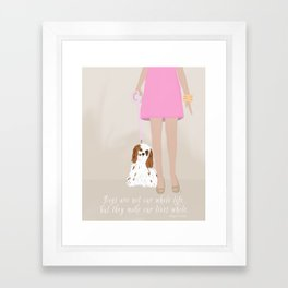 City Dogs: Elizabeth Framed Art Print