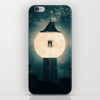 dark tower iPhone & iPod Skins featuring The Moon Tower by Paula Belle Flores